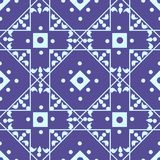 Nahtloses geometrisches Muster mit hellblauen Diamanten und Quadraten vektor abbildung