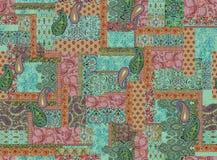 Nahtloses geometrisches Muster mit Paisley lizenzfreie abbildung
