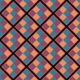 Nahtloses geometrisches Muster mit Quadraten Lizenzfreies Stockfoto