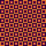 Nahtloses geometrisches Muster mit Quadraten Stockfotografie