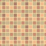 Nahtloses geometrisches Muster mit Quadraten mit Verzierung in zwei verschiedenen Farben Violett, rosa, Flieder vektor abbildung