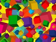 Nahtloses geometrisches Muster mit Würfeln lizenzfreies stockfoto