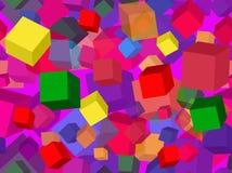 Nahtloses geometrisches Muster mit Würfeln stockbild