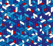 Nahtloses geometrisches Muster mit Würfeln. Stockfotografie