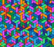 Nahtloses geometrisches Muster mit Würfeln. Stockfoto