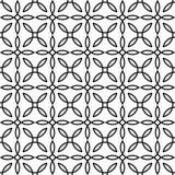 Nahtloses geometrisches Muster Moderner Hintergrund in der Schwarzweiss-Art Stockfotografie