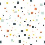 Nahtloses geometrisches Muster, quadrieren lokalisiert auf weißem Hintergrund, Vektorillustration Lizenzfreies Stockfoto