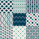 Nahtloses geometrisches Muster-Set Lizenzfreie Stockfotografie