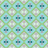 Nahtloses geometrisches Muster, Türkis und grüne Diamanten Lizenzfreies Stockfoto