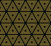 Nahtloses geometrisches Muster von konzentrischen Dreiecken Stockfotos