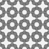 Nahtloses geometrisches Muster von Kreisen auf einem grauen Hintergrund Stockfoto