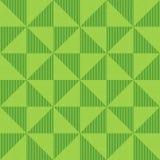 Nahtloses geometrisches Muster von Pailletten, von flackernden Dreiecken und von vertikalen Linien Hintergrund von grünen Dreieck Stockbild