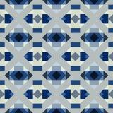 Nahtloses geometrisches Muster von Quadraten und von Dreiecken stock abbildung