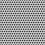 Nahtloses geometrisches Muster von schwarzen Quadraten und von Diamanten auf einem weißen Hintergrund Lizenzfreie Stockfotografie