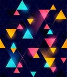 Nahtloses geometrisches Neonmuster Lizenzfreie Stockfotos