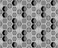 Nahtloses geometrisches schwarzes wei?es Muster lizenzfreie abbildung