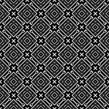Nahtloses geometrisches Schwarzweiss-Muster Stockfotos