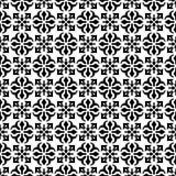 Nahtloses geometrisches Schwarzweiss-Muster Lizenzfreies Stockfoto
