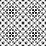 Nahtloses geometrisches Schwarzweiss-Muster Stockfotografie