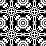 Nahtloses geometrisches Schwarzweiss-Muster Stockbilder