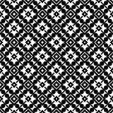Nahtloses geometrisches Schwarzweiss-Muster Lizenzfreie Stockfotografie