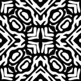 Nahtloses geometrisches Schwarzweiss-Muster stockbild