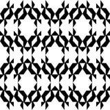 Nahtloses geometrisches Schwarzweiss-Muster stockfoto