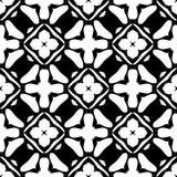 Nahtloses geometrisches Schwarzweiss-Muster Lizenzfreie Stockbilder