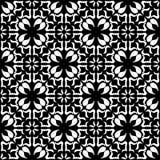 Nahtloses geometrisches Schwarzweiss-Muster Vektor Abbildung