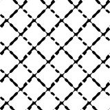 Nahtloses geometrisches Schwarzweiss-Muster Wiederholbare Beschaffenheit/ lizenzfreie abbildung