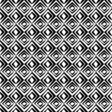 Nahtloses geometrisches Schwarzweiss-Vektormuster mit Rauten vektor abbildung