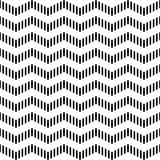 Nahtloses geometrisches Zickzackmuster. Stockbild