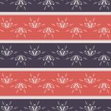 Nahtloses gestreiftes mit Blumenmuster Abstraktes geometrisches Muster, Textilminimales Design lizenzfreie abbildung