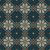 Nahtloses gestricktes dekoratives Muster Vektor Illust Stockfotografie