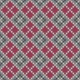Nahtloses gestricktes geometrisches Muster ENV verfügbar Stockfotografie