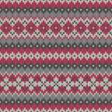 Nahtloses gestricktes geometrisches Muster ENV verfügbar Lizenzfreie Stockfotos