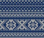 Nahtloses gestricktes Muster Stockbilder