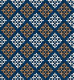 Nahtloses gestricktes Muster in den Rauten Lizenzfreies Stockbild