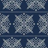 Nahtloses gestricktes Muster der skandinavischen Art mit s Lizenzfreies Stockfoto