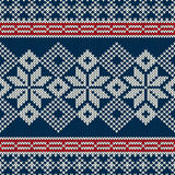 Nahtloses gestricktes Muster der skandinavischen Art mit s Stockfotografie