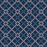 Nahtloses gestricktes Muster Festliches und modernes Strickjacken-Design Lizenzfreie Stockfotografie
