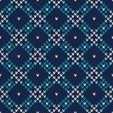 Nahtloses gestricktes Muster Festliches und modernes Strickjacken-Design Lizenzfreies Stockfoto