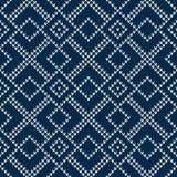 Nahtloses gestricktes Muster Festliches und modernes Strickjacken-Design Stockfotos