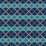 Nahtloses gestricktes Muster Modernes Strickjacken-Design Stockbilder