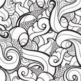 Nahtloses gewelltes abstraktes Muster des Vektors Lizenzfreie Stockfotos