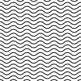 Nahtloses gewelltes Profil Schwarze dünne Linien auf weißem Hintergrund See-, Marine- und Wasserthema Auch im corel abgehobenen B vektor abbildung
