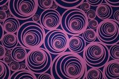 Nahtloses gewundenes violettes Muster mit dunkelblauem Hintergrund Lizenzfreies Stockbild