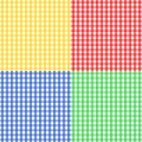 Nahtloses Ginghammuster in vier Farben Stockbilder