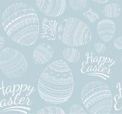 Nahtloses glückliches Ostern-Muster Stockfotos