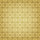 Nahtloses goldenes mit Blumenmuster Stockbilder
